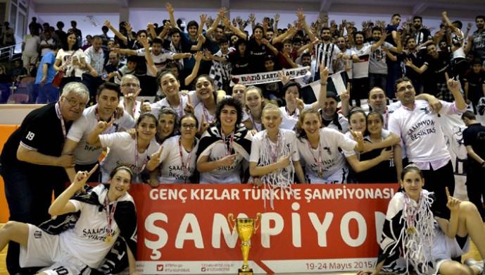 sampiyon Besiktas genç kız basketbol