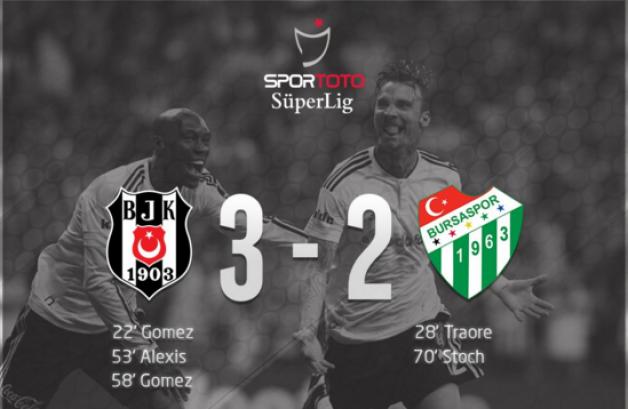 Beşiktaş:3 Bursaspor:2 (Maç Sonucu)