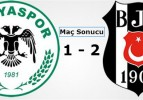 Konyaspor: 1 – Beşiktaş: 2 Maç Sonucu