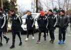 Futbol Takımımız, Rize'de Yürüyüş Yaptı